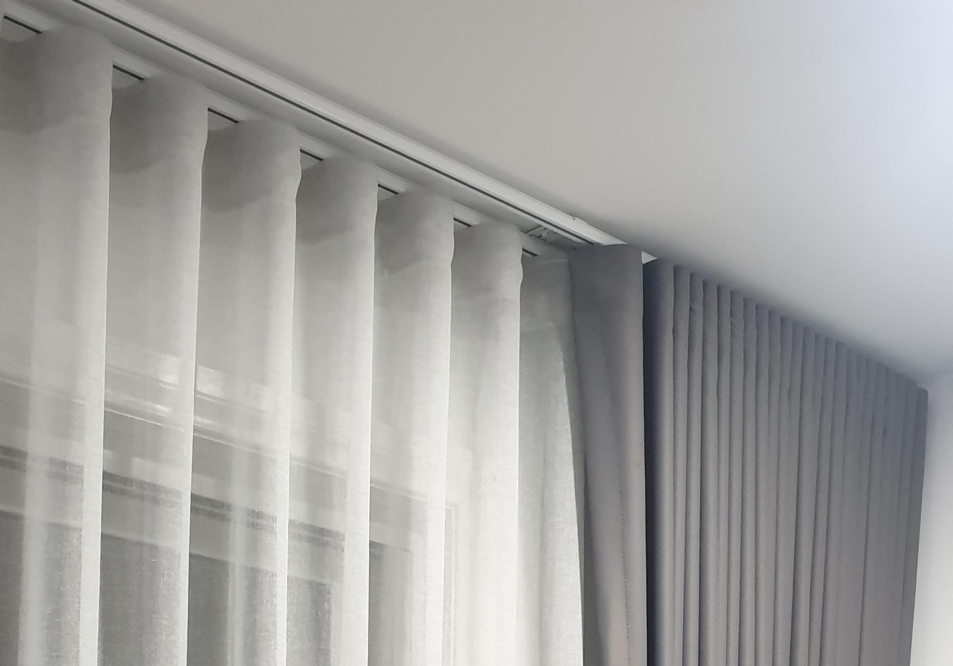 Double S Fold Curtains Decora Blinds